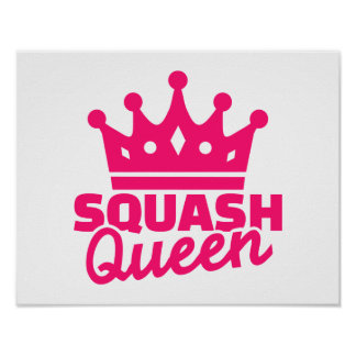 Squash Queen Poster