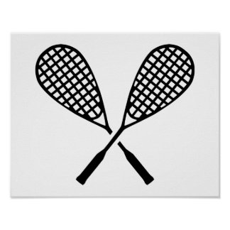 Squash rackets poster