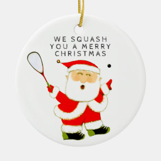 Squash Sport Collectible Christmas Ornament