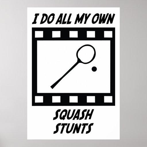 Squash Stunts Print