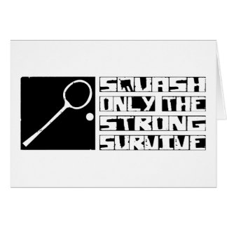 Squash Survive Greeting Card