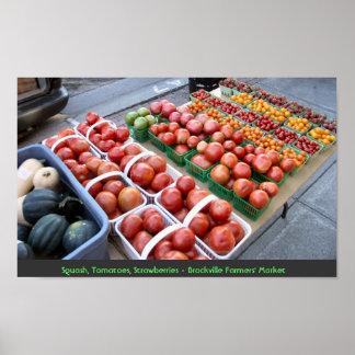 Squash,Tomatoes,Strawberries - Brockville Farmers' Poster