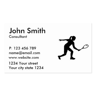Squash woman pack of standard business cards