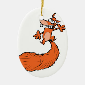 Squashed Squirrel Christmas Ornament