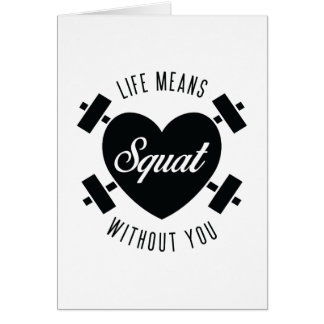 Squat Gym Love Valentine's Day Card
