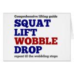 Squat lift wobble drop. Gym motivation