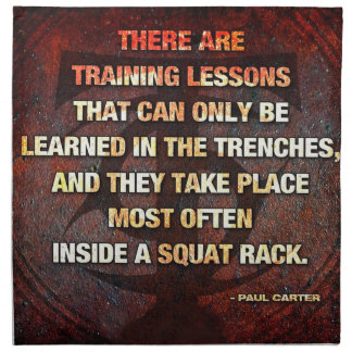 Squat Rack Trenches - Gym Workout Inspirational Napkin