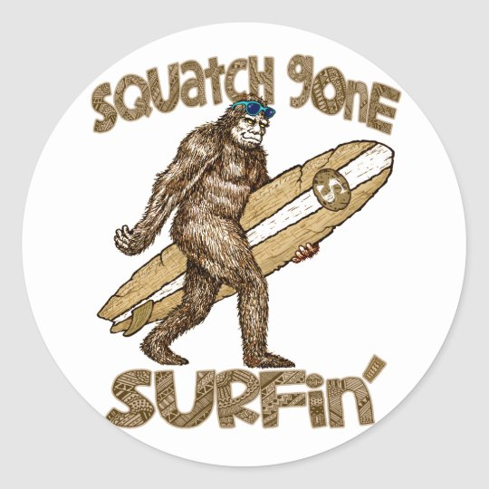 Squatch Gone Surfing sticker