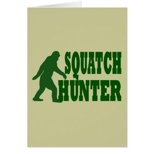 Squatch hunter greeting card