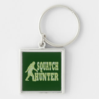Squatch hunter on camouflage key chain