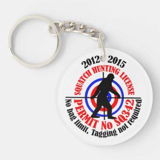 squatch hunting permit acrylic keychain
