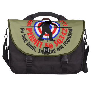 Squatch hunting permit bag for laptop