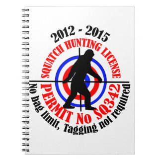 squatch hunting permit notebooks
