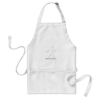 Squatch in a snow storm standard apron