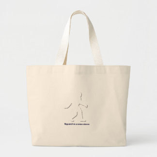 Squatch in a snow storm canvas bags