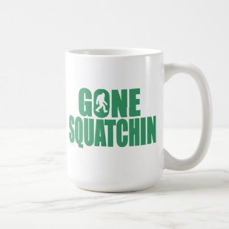 SQUATCH like a PRO in Bobo's GONE SQUATCHIN Basic White Mug