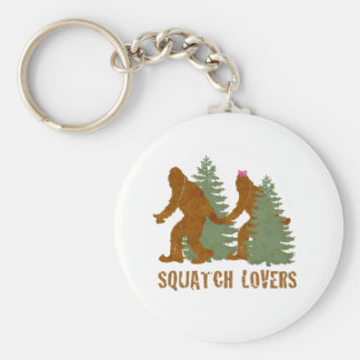 Squatch Lovers Basic Round Button Key Ring