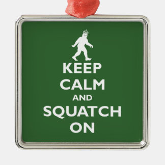 Squatch On Christmas Ornament