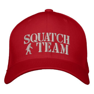 Squatch team embroidered baseball caps