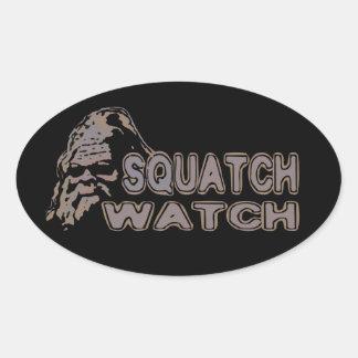 Squatch Watch - Cool Sasquatch Face Oval Sticker
