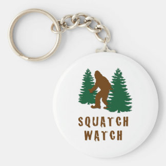 Squatch Watch Basic Round Button Key Ring