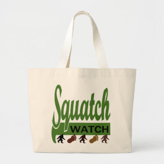 Squatch Watch Large Tote Bag