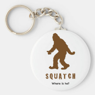squatch, where is he? basic round button key ring