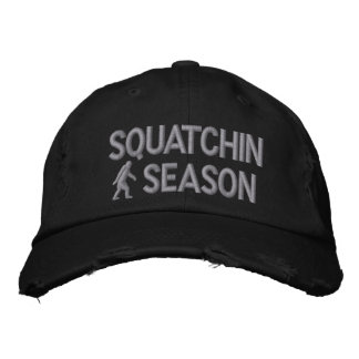 Squatchin season embroidered cap