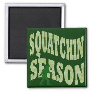 Squatchin Season Square Magnet