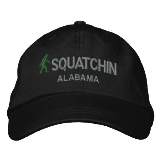 Squatchin & your state personalized embroidered hats