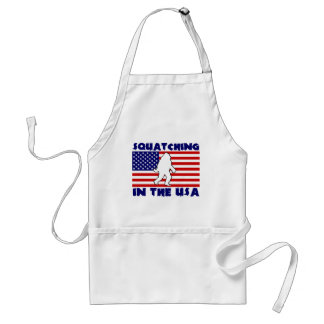 Squatching in the USA Adult Apron