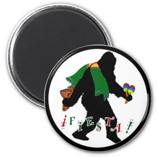 Squatcho De Mayo Fiesta Fridge Magnet