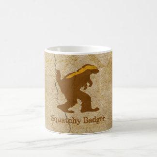 Squatchy Badger Basic White Mug