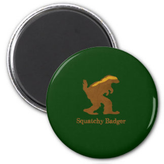 Squatchy Badger 6 Cm Round Magnet