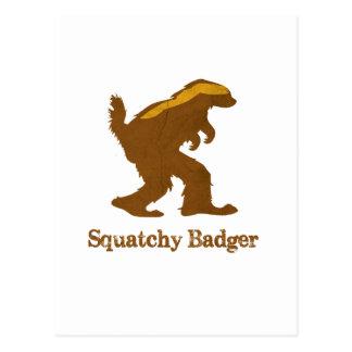 Squatchy Badger Postcard