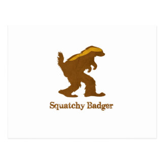 Squatchy Badger Post Card