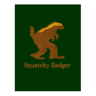 Squatchy Badger Postcards