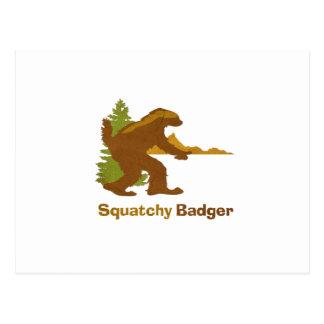 Squatchy Badger (vintage) Postcard