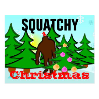Squatchy Christmas Squatch Postcard