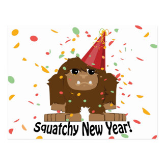 Squatchy New Year Postcard