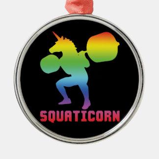 Squaticorn - Leg Day - Squat Unicorn - Workout Christmas Ornament