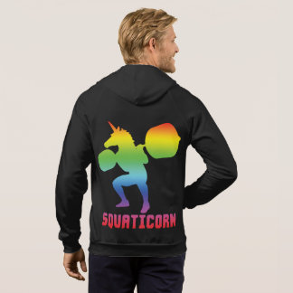 Squaticorn - Leg Day - Squat Unicorn - Workout Hoodie