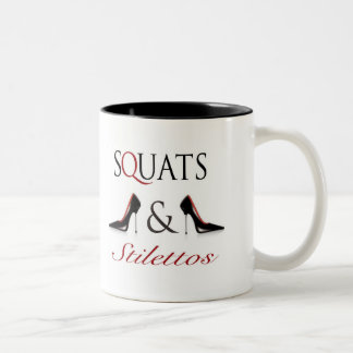 Squats and Stilettos Two-Tone Coffee Mug