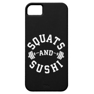 Squats and Sushi - Carbs and Leg Day - Funny Gym Case For The iPhone 5