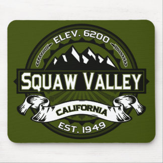 Squaw Valley Olive Logo Mouse Pad
