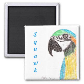 Squawk Parrot Magnet