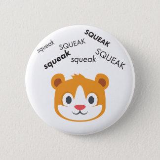 Squeak Hamster Cute Emoji 6 Cm Round Badge