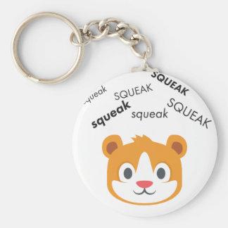 Squeak Hamster Cute Emoji Basic Round Button Key Ring