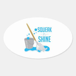 Squeak N Shine Oval Sticker