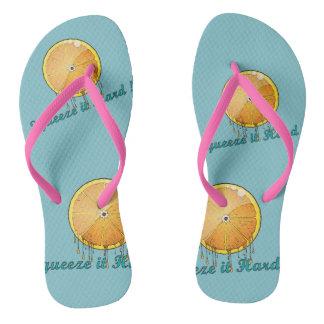squeeze it hard fresh orange women slippers flip flops